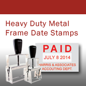Heavy Duty Metal Frame Date Stamps